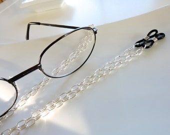 Silver Eyeglass Chain - Chain Reading Glassess Holders - Reading Glasses Chain - Eyeglass Necklace Chain - Eyeglass Holder -Silver Holders