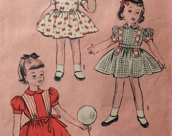 Advance 6350 girls dress size 2 vintage 1950's sewing pattern