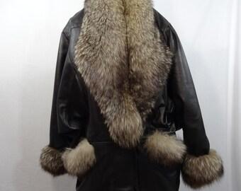 FOX LEATHER COAT