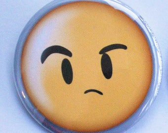 """12's Emoji Face - Doctor Who """"Smile"""" Inspired Button"""