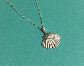 Seashell Pendant - Handmade Sterling Silver