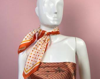 Vintage Scarf Polka Dot Orange