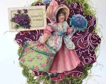 Spring Pink Girl Shelf Sitter