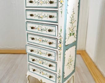 Tall cabinet 1:12 of Jiayi with 7 drawers