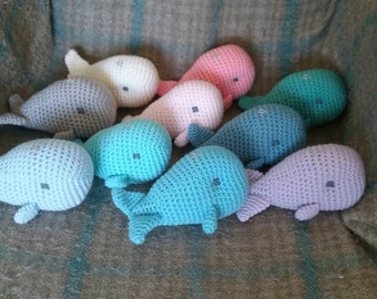 crochet baby whale plush toy- ready to ship