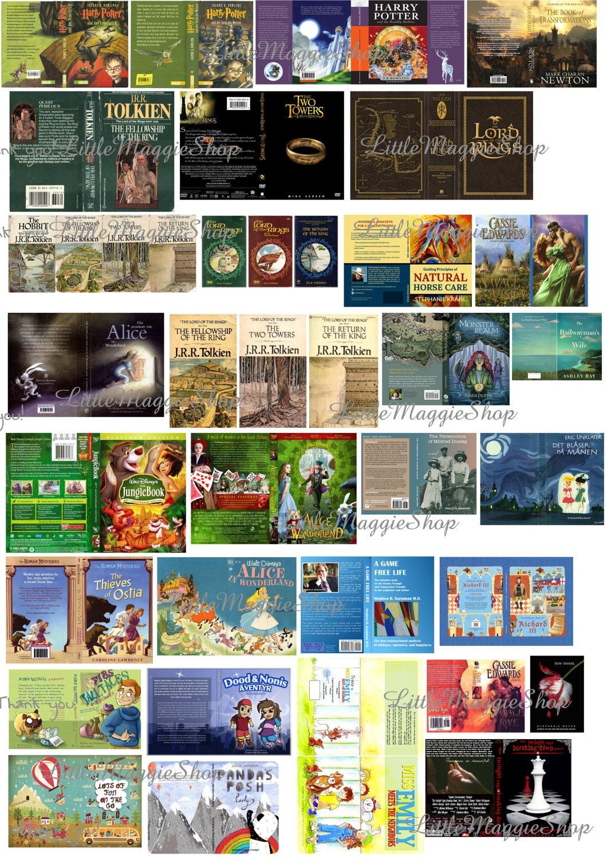 Miniature Book Cover Printables ~ Miniature dollhouse book cover sets printable diy