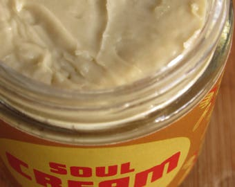 Hydrating Body Cream - Coconut, Calendula, Arnica, and Clove - For Body, Face, and Feet