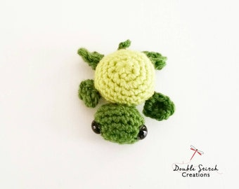 Tiny Toy Crochet Turtle -  Mini Handmade Toy / Crochet Turtle / Children Toys / Gift Ideas  /Amigurumi / Kids Toys /