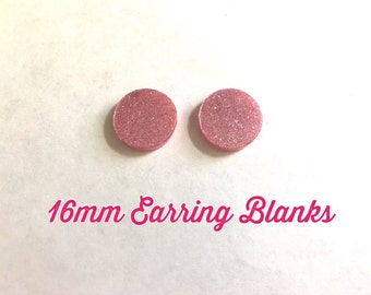 Acrylic Earring Blanks, 16mm circles, monogram jewelry, monogram earrings, acrylic blanks, circular earrings, acrylic circles pink