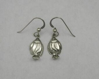 Sterling Silver Halibut Earrings