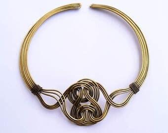Collar Necklace, Brass Choker Necklace,  Tribal Necklace, INDIAN Necklace,Handmade Necklace, Ethnic Necklace, Hasli