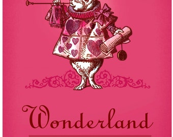 Alice in Wonderland passport style notebook, Wonderland notebook, Pocket notebook gift for Alice lovers,