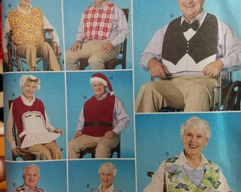 Adult clothing protectors and hats...Adult bibs, seasonal and everyday adult bib pattern