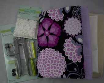 DIY Feminine Pad Sewing Kit Complete Tutorial Paper Pattern Snap Maker Tool Cloth Reusable Menstrual Pads Incontinence Floral Fabric Yardage
