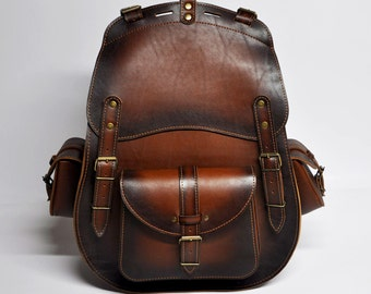Genuine Leather Bag, Leather Backpack, Genuine Leather Backpack, Travel Backpack, Bike Backpack, School Backpack, Laptop Backpack LARGE Size