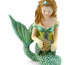 Fairy Garden  - Mermaid and Turtle - Miniature