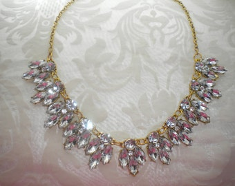 Necklace rhinestone wedding