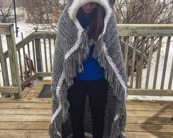 Hooded Wolf Blanket - Adult Size