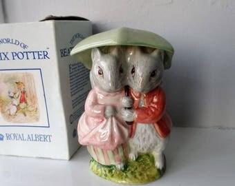 Vintage ROYAL ALBERT Goody & Timmy Tiptoes figurine ~ Beatrix Potter