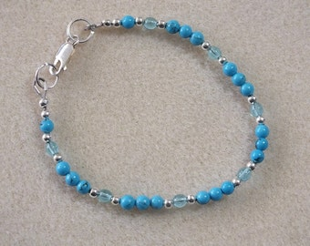 Turquoise Bracelet w Lobster Claw Clasp