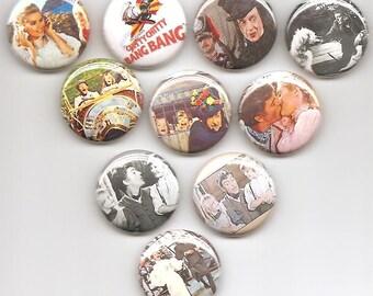 Chitty Chitty Bang Bang Nostalgic Set 10 Pins Button Badge Pinback
