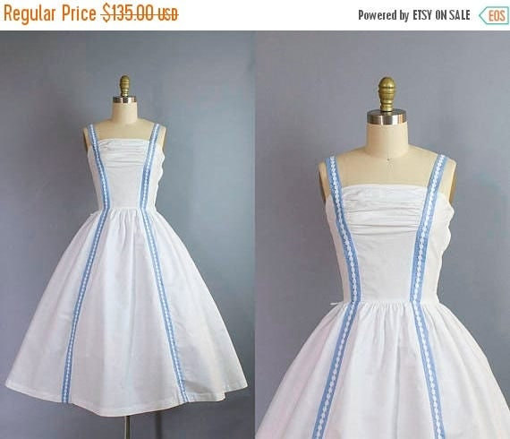 1950s Cotton Sundress/ Small (33b/25w)