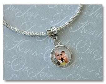 Custom Dangle Photo Charm for Pandora, European Beads