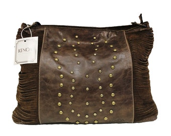 Brown Shoulder and cross body leather bag . Leather bag women - bags and purses - leather purse - brown leather bag, brown purse