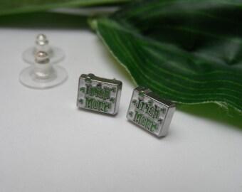 Irish Mom Stud Earrings, stud earrings, mom earrings, Irish studs, St Patrick's Day