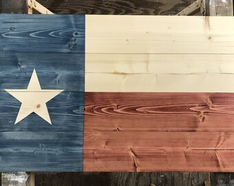 Rustic Texas Wood Flag