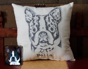 Custom Pet Photo Pillow, Picture Pillow, French Bulldog, Dog Pillow, Custom Pillow, Dog lover, Dog mom, Pet loss, pet memorial, dog gift