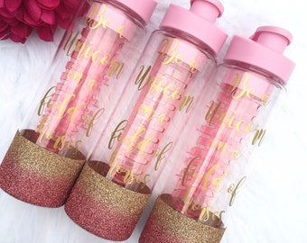 Unicorn Water Bottle /Water bottle With Tracker /Glitter Water Bottle /Fitness Bottle /Pink Water Bottle / Water Bottle with timer