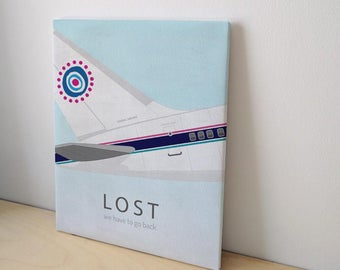 Canvas Oceanic Lost  We Have To Go Back - Stretched And Ready to Hang - Art Print Poster