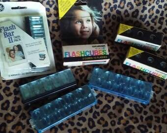 Vintage Flash Photography Cubes, Flash Bars, GE Sylvania