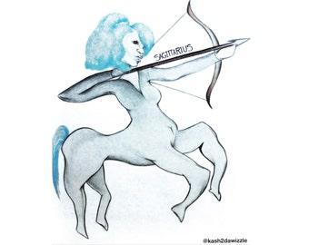 Sagittarius (Fire Sign) #Drawing