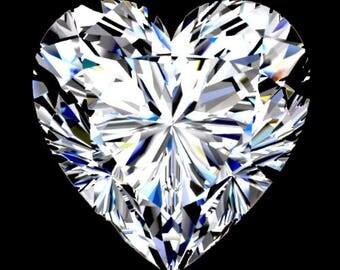 HARRO HEART Cut Moissanite Loose Gemstones Heart Moissanite Color E F Moissanite Engagement Rings 1 2 3 4 carat