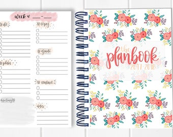 BUNDLE! Lesson Plan Book + Planning Notepad - Calendar Planner - Weekly Planbook - Monthly education educator teaching organizational