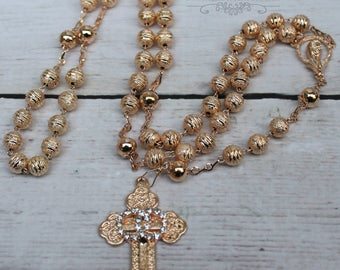 FAST SHIPPING!! Handcrafted Beautiful Wedding Rosary, Wedding Rosary, Rosary Wedding Gift