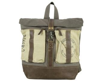 Sunsa woman man backpack shoulder bag handbag canvas bag Artno.: 51839