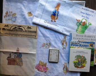 Beatrix Potter, Peter Rabbit Fabric Panels, SOFT Baby Book, Mother Rabbit Sewing, Bookplates, Cookbook, Puzzle, Book, Daisy Kingdom, Warne
