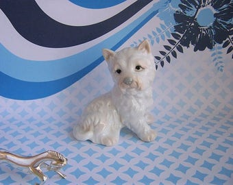 Vintage Dog Figure, West Highland White Terrier Dog Figurine, Fine Porcelain, John  Jenkins, 1980s, Cute Dog, Westie Lover
