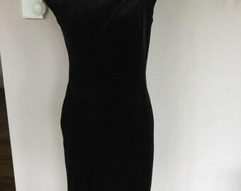 Frank Usher Black Velvet Dress