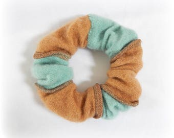 Cashmere Scrunchie, Soft Hairband, Ponytail Holder, Hair Elastic, Striped Hairband, Cute Scrunchy, Upcycled, Recycled, Eco Accessories