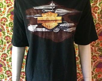 """Harley Davidson """"Bike-Ridin Fun-Lovin"""" Vintage Shirt"""