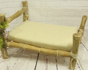 Photo Prop  bed Newborn photography prop hand made wooden bed, real  wood, birch bed