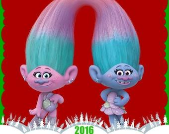 Personalized Troll Christmas Ornament-Kids Christmas Keepsake 2017
