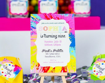 Art Party Invitation Instant Download - Printable Painting Party Invitation by Printable Studio