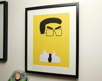 Frank Grimey Grimes Card Cut Out. The Simpsons, Homers Enemy, Silhouette, Paper Cut - FREE UK P&P