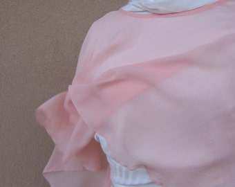 Wedding Wrap, Bridesmaid Cover Up, Wedding Cape, Bridal Capelet, Bridal Cape Pink, Wedding Cover Up, Pink Silk Cape, Evening Wrap, Romantic