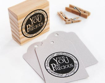 lord of the rings party favors, polymer stamp, gollum, you are my precious, my precious, for you my precious, the one ring, the hobbit gift